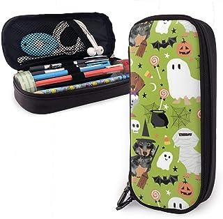 DJNGN Pencil Case Bassotto Halloween Tessuto Portapenne in pelle di cane Portapenne grande capacità Portapenne grande Port...