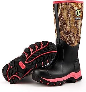 TideWe Hunting Boot للنساء، حذاء صيد نسائي معزول مقاوم للماء مقاس 15 بوصة، حذاء صيد مقاس 6 مم مصنوع من النيوبرين والمطاط ف...