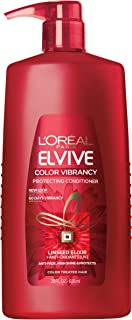 L'Oreal Paris Elvive Color Vibrancy Protecting Conditioner, for Color Treated Hair, Conditioner with Linseed Elixir and Anti-Oxidants, for Anti-Fade, High Shine, and Color Protection, 28 Fl Oz