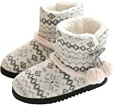 AONETIGER Slippers Boots Women Ladies Indoor House Booties Cotton Fleece Lined Warm Winter Home Shoes