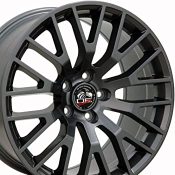 Amazon Com Oe Wheels Llc 18 Inch Fits Ford Mustang 05 2018 Gt Style Fr19c 18x9 Rims Gunmetal Set Automotive