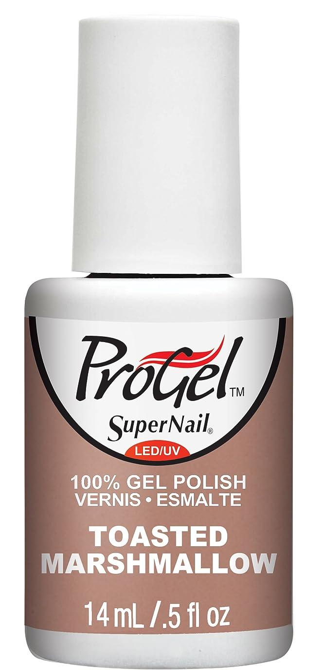 下オーラルバラ色SuperNail ProGel Gel Polish - Toasted Marshmellow - 0.5oz/14ml