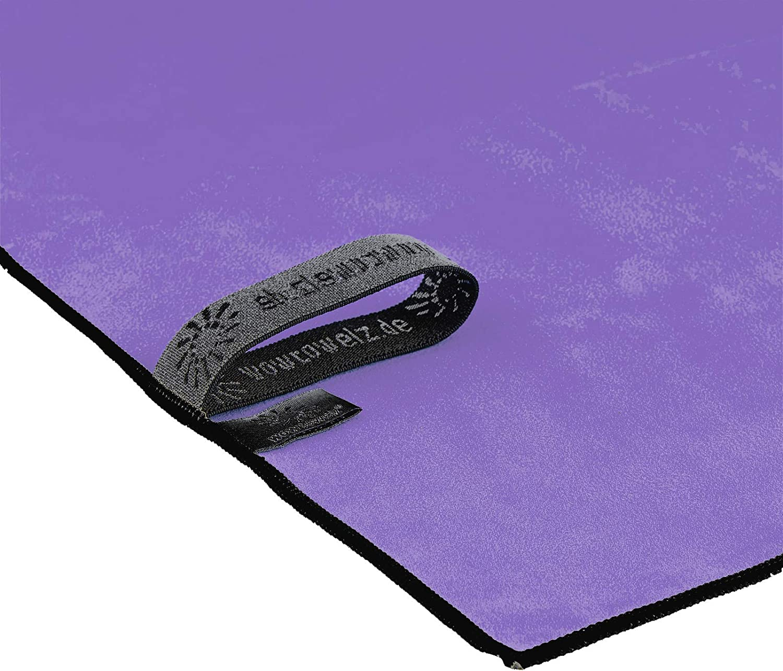 S, Black Wowtowelz Premium Microfibre Towel