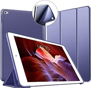 Funda VAGHVEO para iPad Air 2, soporte Smart Cover de silicona ligero [Auto-Sueño/Estela], Carcasa trasera de TPU suave para iPad Air 2 de 9,7 pulgadas (Modelo: A1566, A1567), Azul marino