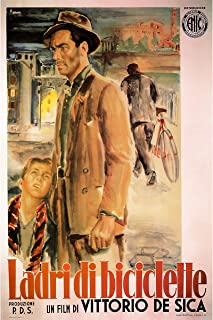 American Gift Services - Ladri di Biciclette Italian Bicycle Thieves Vintage Movie Poster - 24x36