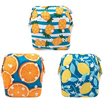 Swimming Lessons /& Baby Shower Gift Washable and Adjustable for Babies 0-2 Years babygoal Baby Reusable Swim Diaper