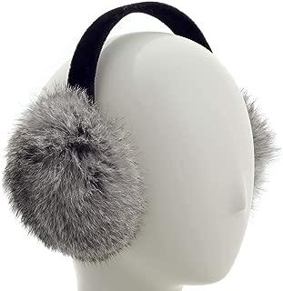 Long Hair Rabbit Fur Earmuff with Velvet Band Winter Ear Warmer