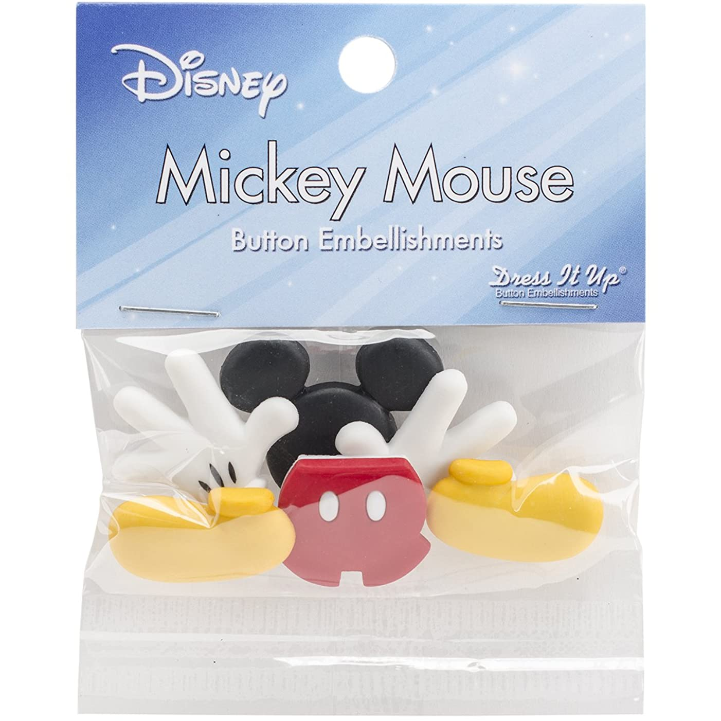 Dress It Up 7720 Disney Button Embellishments, Everything Mickey