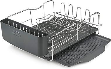 Polder 4-Piece Advantage Dish Rack Silver