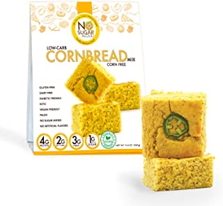 No Sugar Aloud Low Carb Corn free Corn Bread Mix (No sugar added, gluten free, Vegan, Keto )