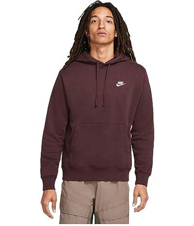Nike NSW Club Hoodie Pullover (Mahogany/Mahogany/White) Men