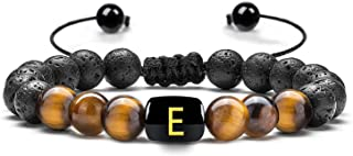 Fathers Day Gifts-Dad Gifts for Dad, Mens Bracelet, Lava Rocks Letter Beads Men's Bracelets for Men Anxiety Relief Items M...