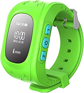 Q50 GPS Tracker support Sim card Kids Anti-Lost Smartwatch Wristwatch Child Guard for Android and IOS Smartphone (Q50 green)
