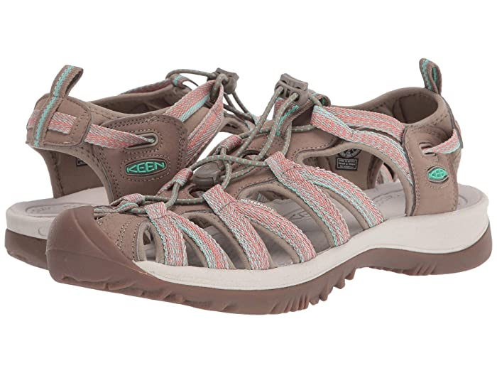Keen  Whisper (Taupe/Coral) Womens Sandals
