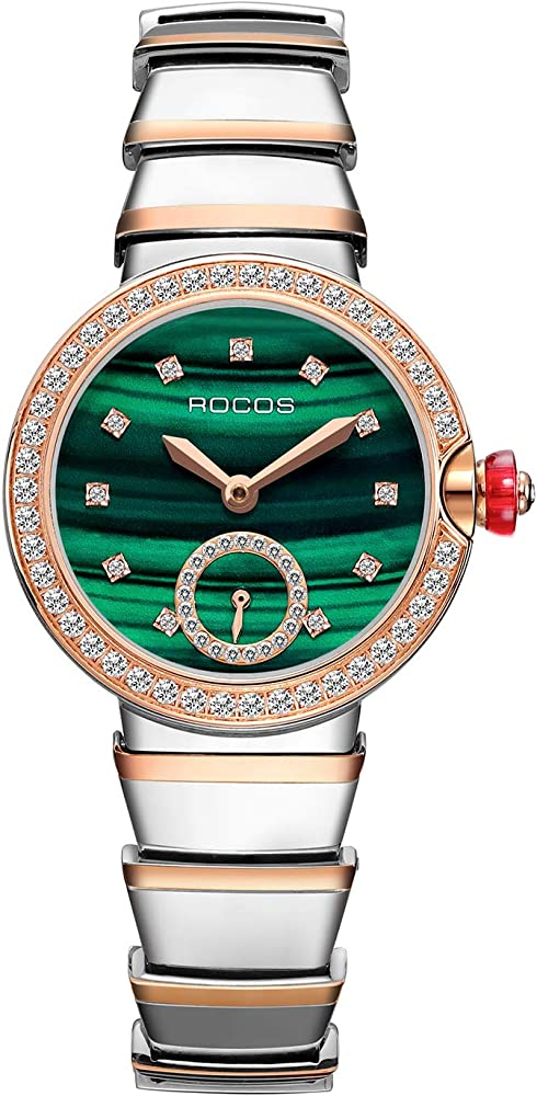 Rocos, orologio automatico da donna, in acciaio inossidabile R0216L