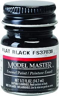 Testor Corp. Flat Black (FS37038) 1/2 oz Enamel Paint Bottle