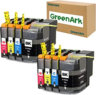 GreenArk Compatible Ink Cartridge Replacement for Brother LC20E XXL Super High Yield Ink Work for Brother MFC-J775DW XL MFC-J985DW MFC-J5920DW Printer (2X LC20EBK,2X LC20EC,2X LC20EM,2X LC20EY XXL)