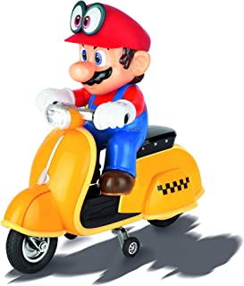 Carrera RC Official Licensed Super Mario Odyssey Scooter 1: 20 Scale 2.4 Ghz Remote Radio Control Car with Rechargeable Lifepo4 Battery - Kids Toys Boys/Girls