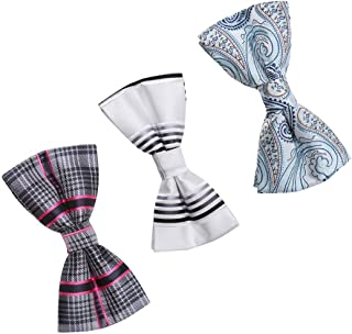 Dan Smith Men's Fashion Series Patterns 3 Bow Ties Set for Great Gift Ideas With Free Gift Box