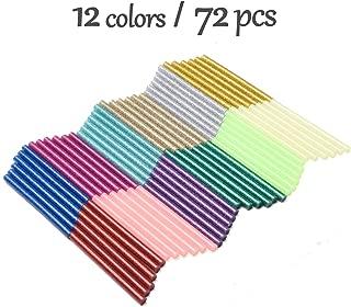 72 Count Hot Glue Sticks 12 ColorsMini Size 4