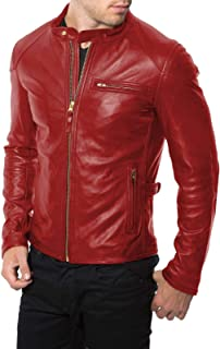 Best leather jacket red lining Reviews