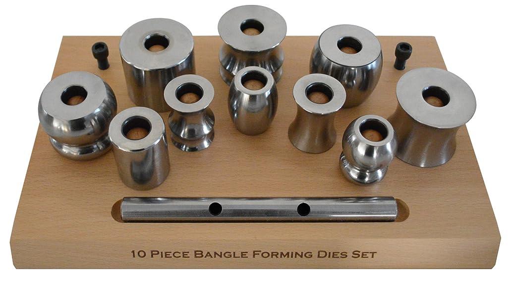 Bangle Forming Set w/Assorted Steel Die Shapes Metal Bracelet Jewelry Making Kit