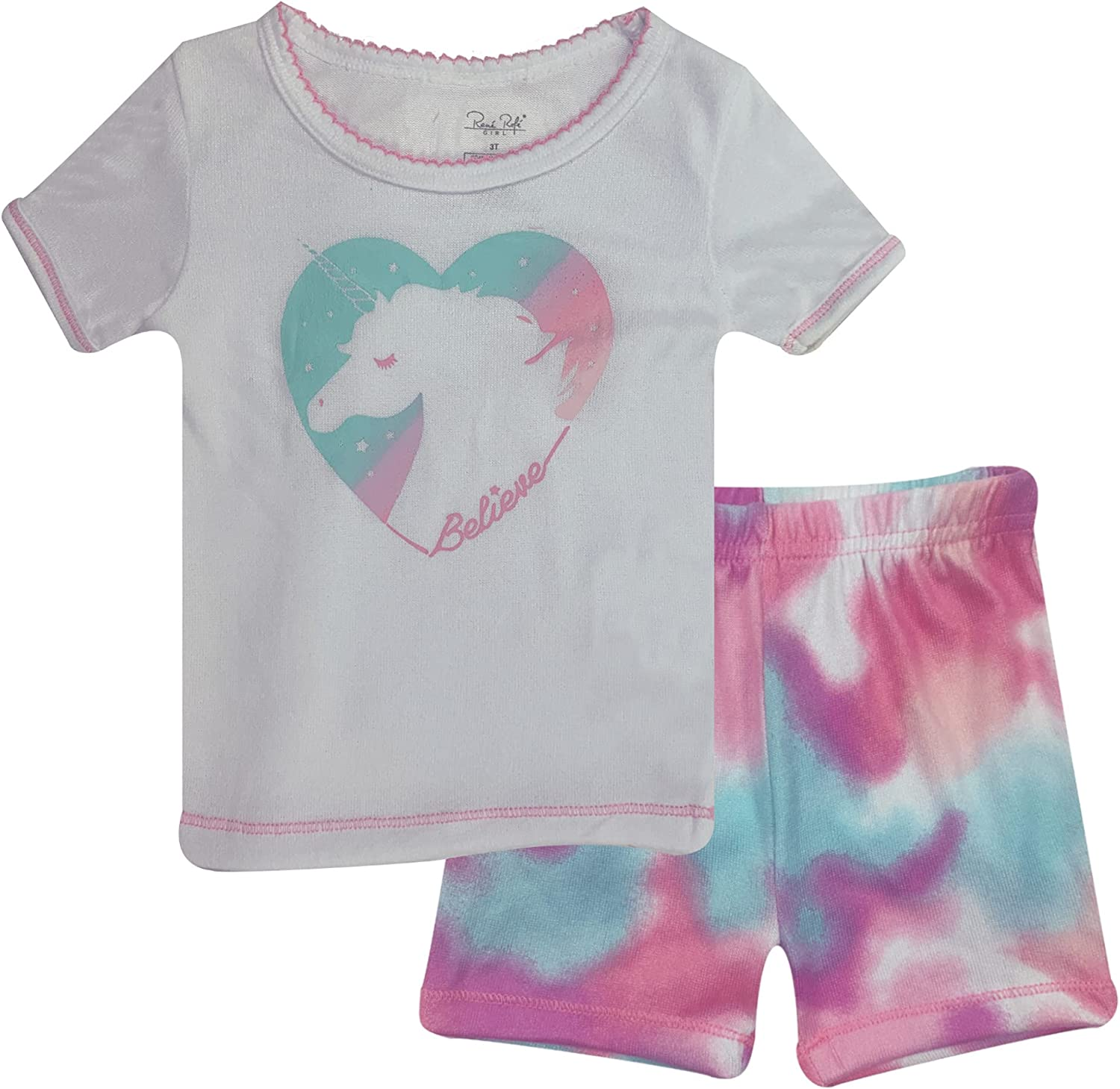 Popular Girl's Hacci Short Sleeve and Shorts - 2 Piece Set