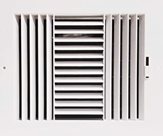 Three-Way Plastic Side Wall/Ceiling Register in White 10