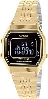 675fdc615ec Relógio Feminino Digital Casio Vintage LA680WGA-1BDF - Dourado