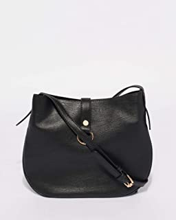 Black Belle Saddle Crossbody Bag