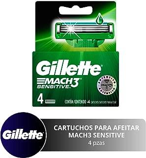 Gillette Mach3 Sensitive Cartuchos Para Afeitar 4 Unidades