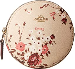 Floral Bundle Round Coin Case