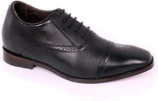 Max Denegri Zapato Formal British Negro 7cms De Altura