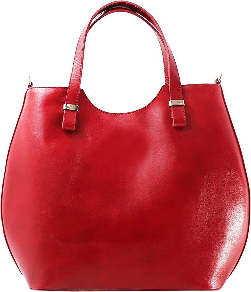 Chicca borse, borsa a tracolla per donna, in vera pelle 80046-ROSSO
