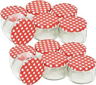 com-four/® 8x mason jar con cierre de clip 100 ml vaso de alambre con anillo de goma en diferentes colores 08 piezas - 100 ml