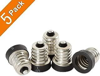 Electop E12 to E11 Lamp Socket Adapter Bulb Base Converter LED Light Holder(5 Pack)