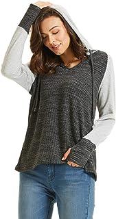 SONJA BETRO Women's Knit Colorblock Hoodie Plus Size
