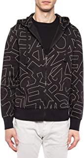 Michael Kors Mens Sweater Logo Print Jacket Zip Hooded