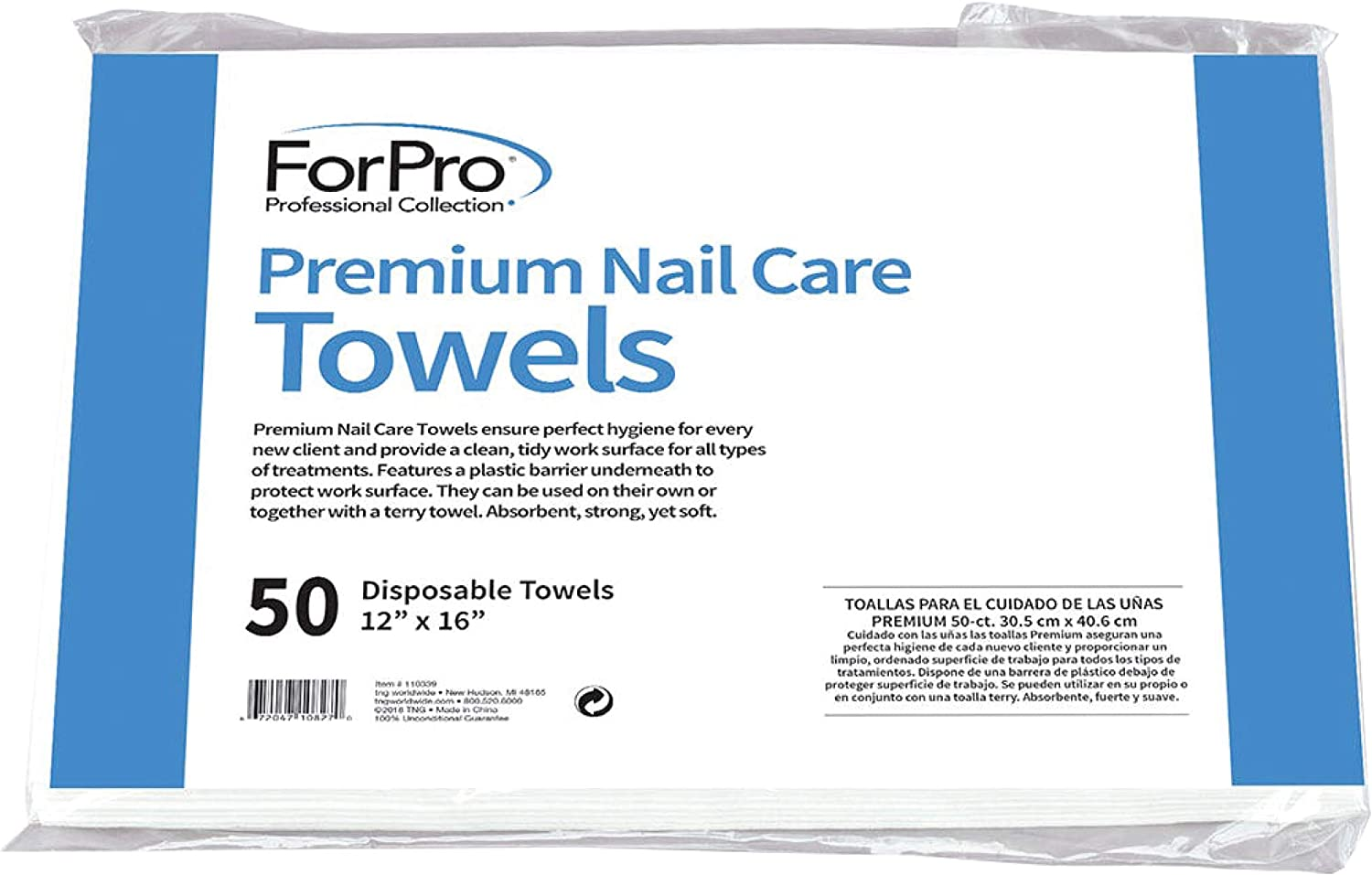 Buy ForPro Premium Nail Care Towels for Manicures and Pedicures ...