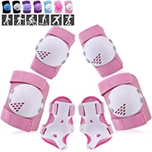 ArgoHome Kids Protective Gear Set, Knee Pads Elbow Pads Wrist Guards for Kids Youth Child 3-14 Years for Roller Skates Cycling BMX Bike Skateboard Inline Skatings Scooter Riding Sports