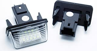 KKmoon Coche L/ámpara Placa Matr/ícula 18 SMD LED 2Pcs