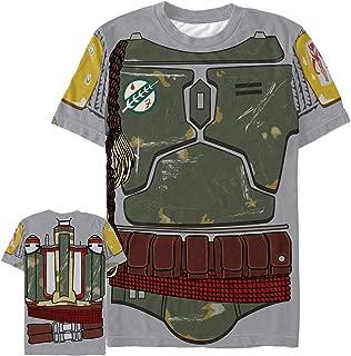 Star Wars Men's Villain Boba Fett Costume All-Over Print T-Shirt