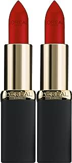 L'Oreal Paris Cosmetics Color Riche Matte Lip Color, 403 Eva's Red, 2 Count