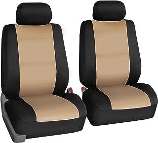 FH Group FB083BEIGE102 Beige-Half Neoprene Bucket Seat Cover Airbag Compatible