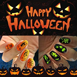 iMethod Halloween Nail Stickers - 2021 New 1500+ Designs Halloween Nail Decals 12 Sheets, Easy to Apply & Remove, Perfect ...