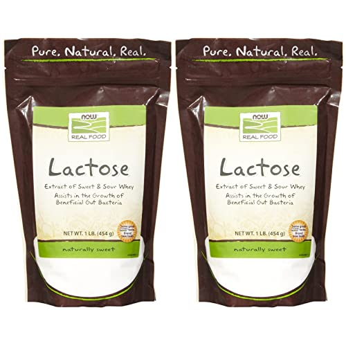 NOW Foods Lactose Sugar - 1 lb - 2 pk