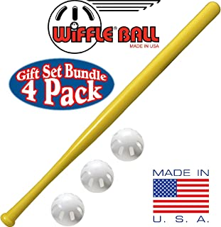 Wiffle 32' Bat and 3 Baseball Set Bundle