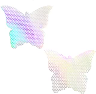 Neva Nude Super Sparkle Glitter Butterfly Nipztix Pasties Nipple Covers, Medical Grade Adhesive, Waterproof, Made in USA