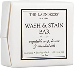 The Laundress - Wash & Stain Bar, Vegetable Soap, Borax & Essential Oils, Laundry Soap Bar and Stain Remover, Travel and Wash Clothes, Allergen-Free, 2 oz