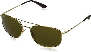 نظارة شمسية مربعة معدنية من RB3654 - لون بندقي/رمادي داكن، 60 ملم